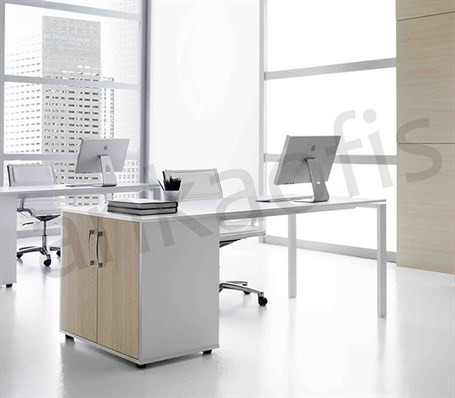 Karem Office Table With Cupboard
